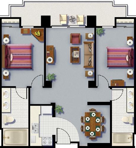 Cancun Resort Las Vegas 2 Bedroom Timeshare Resale