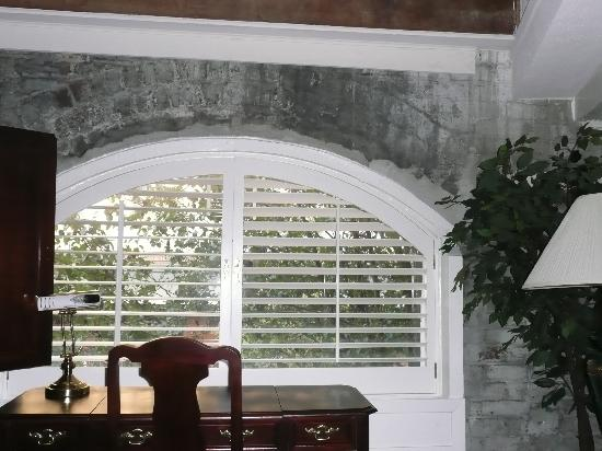 Arched window with original