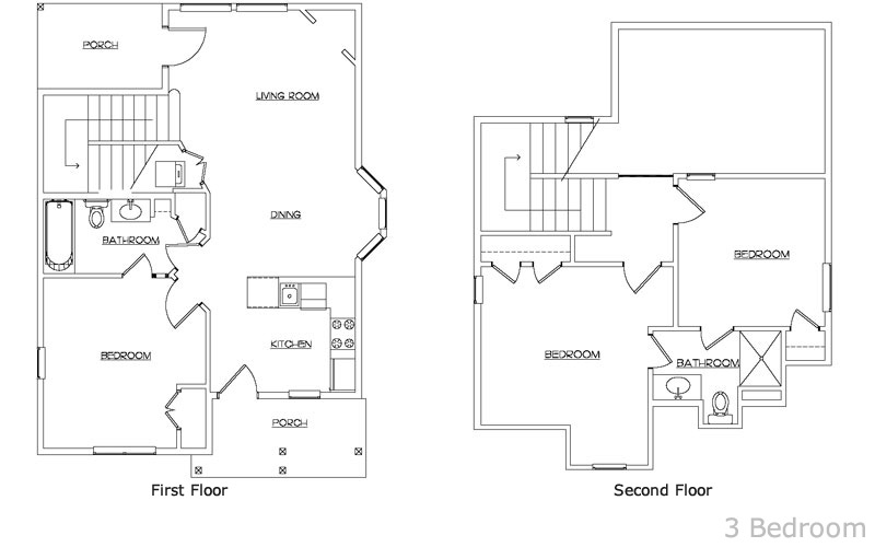 Stormy point village 3bed floorplan