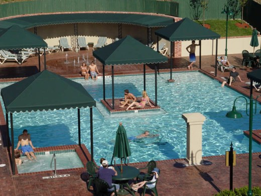 Pool at french quarter branson
