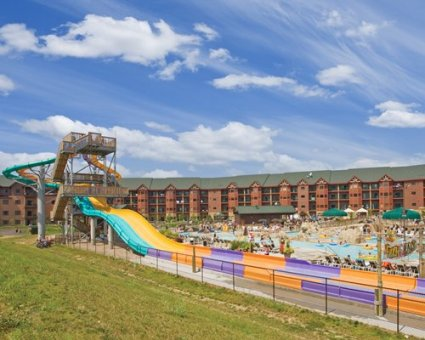 Wyndham vacation resorts at glacier canyon water slides