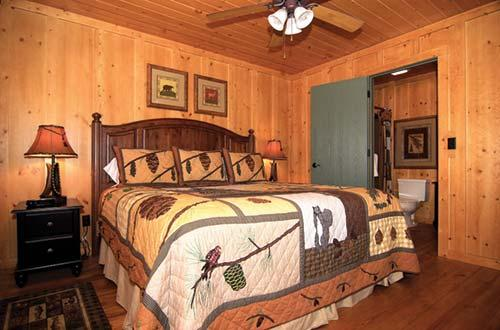 ... The Cabins At Green Mountain Master Bedroom ...