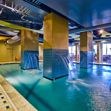 Ocean beach club indoor pool