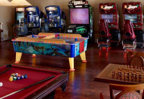 Hilton grand vacations club at tuscany village game room view