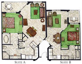 Mizner place two bedroom lock out floor plan
