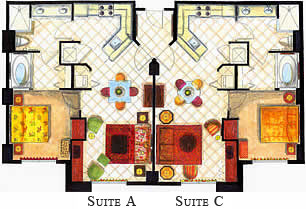 Vacation village at parkway phase ii a and c unit floor plan