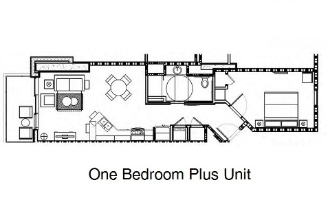 Hilton ocean 22 one bedroom plus unit floor plan